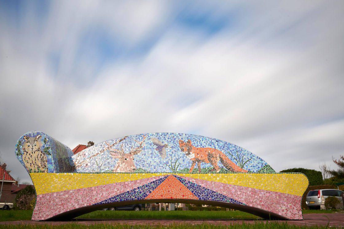 mozaiekbank vogelenzang